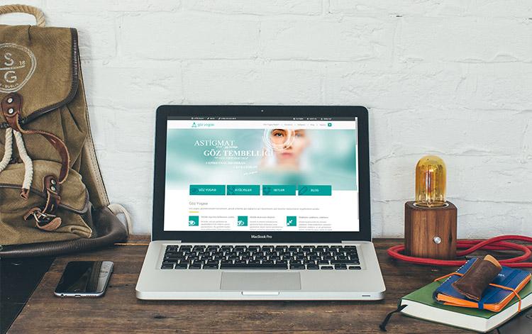 göz yogası websitesi tasarımı